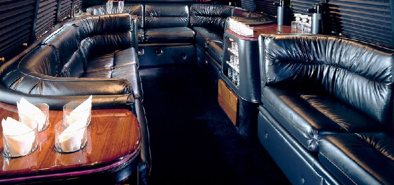 Inside the Limo Party Bus